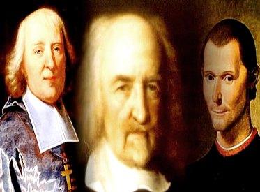 Jacques Bossuet, Thomas Hobbes e Nicolau Maquiavel