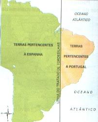 O Brasil dividido pelo Tratado de Tordesilhas