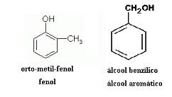 isomeria fenol alcool