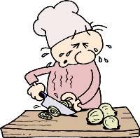 Cortando cebolas
